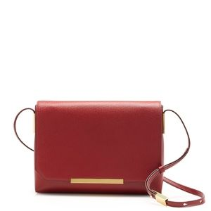 J. Crew leather Claremont bag in red - NWT